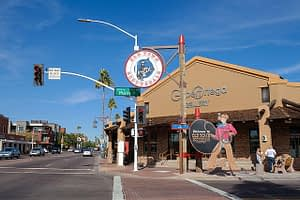 Scottsdale Road In Old Town Scottsdale Arizona