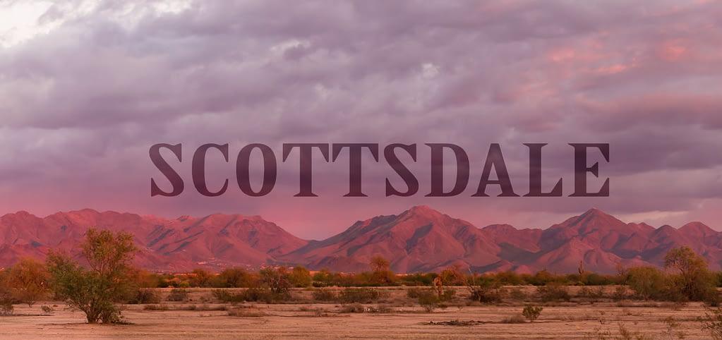 Scottsdale SEO Company enjoying the McDowell Mountains at Sunset